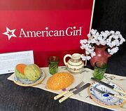 Retired American Girl Josefina Birthday Dishes And Party Treats Complete In Box