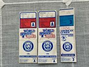 2 Detroit Tigers 1984 World Series Ticket Stub Game A Program Lot And 2 Alcs