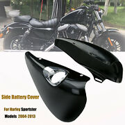 Motorcycle Side Battery Covers Black For Harley Sportster Xl883 Xl1200 2014-2021