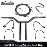 Rise 16 Handlebar Mx-t Bar Wirng Harness Kit For Harley Touring Road King 2016+