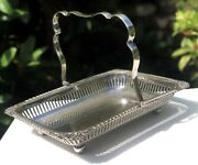 Antique Silver Plate Silver Plated Ornate Serving Dish Bowl Basket By Fh And Co