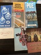 Lot Of Train And Railroad Collectibles Union Pacific Time Table 1953 Pge Railway