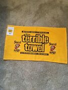 Pittsburgh Steelers Terrible Towel Rolling Stones No Filter Oct 4 2021 Rare Nwt
