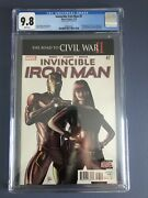 Invincible Iron Man 7 Cgc 9.8 White Pages 1st Cameo Appearance Riri Williams