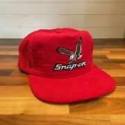 Vintage Snap On Tools Snap Back Hat Trucker Corduroy Red New Era Usa Rare Mint