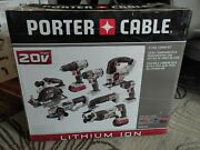 Porter-cable Pcck619l8 20v 8 Tool Max 2 Battery Lithium-ion Cordless Combo Kit