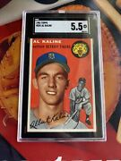 1954 Topps 201 Al Kaline Rc - Rookie Perfectly Centered Sharp Sgc 5.5