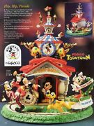 New Disney Enesco Mickey And Friends Hip Hip Parade Multi-action Music Box Video