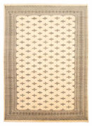 Hand-knotted Finest Peshawar Bokhara Ivory Wool Rug 10and0390 X 14and0390