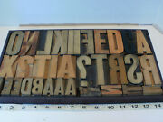 Letterpress Wood Type Block Letters In Tray 34 Pieces Vintage