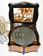 Antique Serpentine Shape Disc Playing Music Box By Polyphon C1880s,see Video