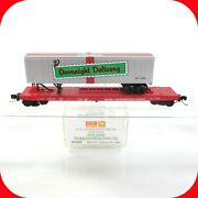 N Scale Christmas Holiday Trailer And Flat Car Tofc Mtl 2002 - Micro Trains 64082