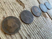 🔥antique 1901 English Penny Shell Set / Extremely Worn/coin Magic🔥