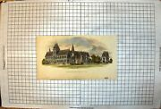 Antique Print South West View University Museum Oxford Arched Windows 1855 19th