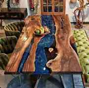 60x32 Epoxy Resin Wooden Center Coffee Table Top Home Furniture K11