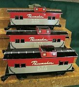 3 Marx New York Central Pacemaker Box Cars 8 Wheel O/o27 W/knuckle Couplers