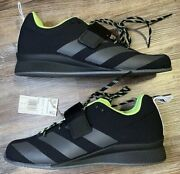 Adidas Adipower 2 Gz2859 Weightlifting Black Green Shoes Menandrsquos Size 10 Nwob