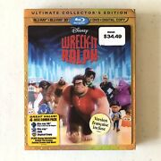 Wreck It Ralph 3d Blu-ray/dvd, 4 Disc Set, 2013 + Slipcover / Ultimate Edition