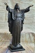 Collectible Bronze Statue Deal Signed Original Numbered Religious Jesus Standing