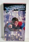 Superman The Movie Warner Home Video Vhs Factory Sealed New Watermark 1986