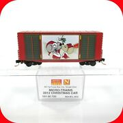 N Scale Merry Christmas Mouse 2012 - 40' Hy-cube Box Car - Micro Trains 10100720