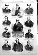 Old Antique Print Fast Day Sermons Archbishop Canterbury Rev Howarth 1854 19th