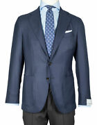 Caruso Jacket In Dark Blue With Patch Pockets Pure Cashmere Regeur1690
