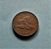 1857 Flying Eagle Cent Scarce Double Die Obverse, High Quality Very Appealing