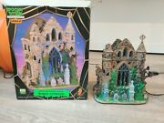 Lemax Spooky Town Gothic Ruins Excellent Adapter Lighted Halloween House Box