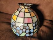Stained Glass Jeweled Lamp Shade 5 Tall 6 Wide