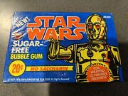 1977 Topps Star Wars Sugar Free Bubble Gum Cards Sealed Unopened Box