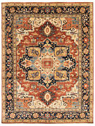 Vintage Geometric Hand-knotted Carpet 8and03911 X 11and03910 Traditional Wool Area Rug