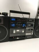 Vintage Boombox Ghetto Blaster Sanyo C-12a Am Fm Cassette Equalizer Line-in