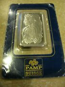 Super Nice And Mint Pamp Suisse 1oz Palladium Bar On Assay - Free Shipping