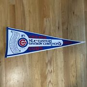 Vintage Chicago Cubs Nl Eastern Division Championship Pennant 1984 Mlb 30