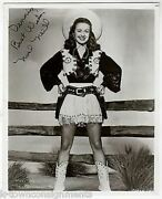 Noel Neill Lois Lane Cowgirl Movie Actress Vintage Autograph Signed Photo