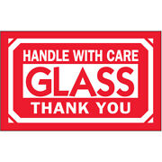 3 X 5 Glass Handle With Care Labels 5000 Pcs