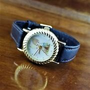 New 2000 Womens Gold Valdawn Precious Moments Love One Another Watch