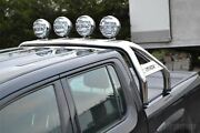 Sport Roll Bar + 6.5and039and039 Spot Lights To Fit Volkswagen Amarok 16+ Stainless Steel
