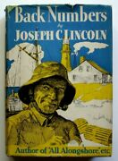 Back Numbers, 1933 1st Edition Hc/dj, Joseph Lincoln, Cape Cod Stories