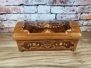 Reuge Sorrento Italy Inlay Wood Music Jewelry Box Treasure Chest Love Story