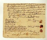 Connecticut Colony Judge Isaac Dickinson Antique Autograph Signed Doc 1757