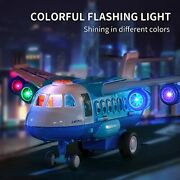 Airplane Diecast Construction Kids Toy Lights Andsounds For 3 4 5 6 Years Old Boys