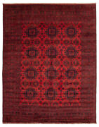 Vintage Geometric Hand-knotted Carpet 9and0398 X 12and0399 Traditional Wool Area Rug