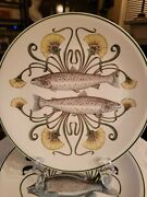Set Of New 6 Villeroy And Boch Porcelain Dinner Plates Each Plate With A Differen