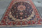 Semi Antique Persian Rug Old Handmade Tabriz X Large Natural Dyes 10x14