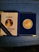 1986 W American Gold Eagle Proof 1 Oz 50 Key Date Coin Rare Ogp