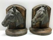 Pair Of Horse Head Bookends C 1910