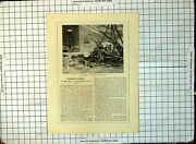 Old Print The Smalls Lighthouse Other Days St. George's Channel Text 231g