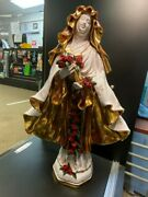St. Theresa By Carmine Apolito Hand-painted And Crafted Ceramic Religi Tdw013733
